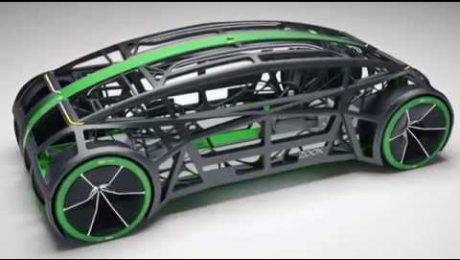 Images of Zoox car, autonomous vehicles