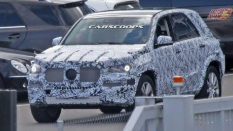 Mercedes GLE Class SUV spied testing