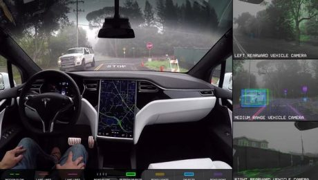 Tesla self-driving video