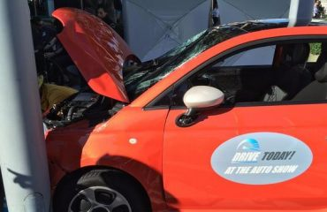 Fiat driver crashed into Los Angeles Auto Show