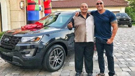 Dwayne 'The Rock' Johnson gifts his dad a new car