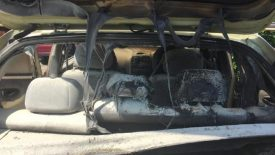 Leesa Horn's Hyundai Accent ruined after towels she left in the Hyundai self-combusted