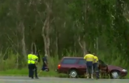 30 year old woman dies after getting struck by a car in Bruce Highway, Queensland, Australia.