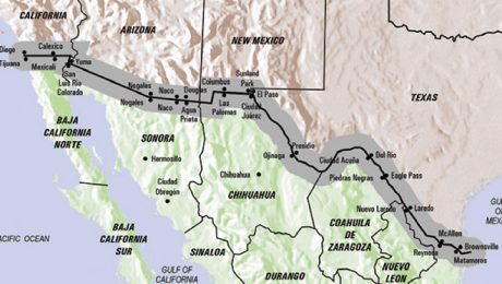 Mexico and the US border