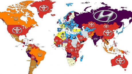 Most searched car brands in the world