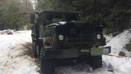 5 ton military truck discovered abandoned in Skykomish