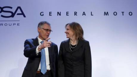 Carlos Tavares and Mary Barra