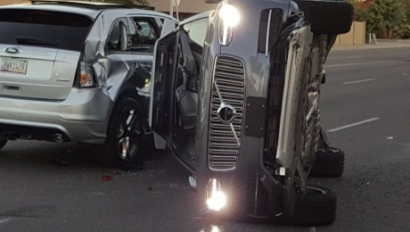 Uber self-driving test car crash Arizona