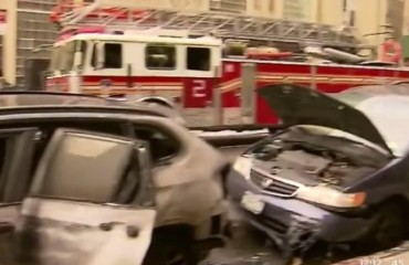 vehicles damaged after van caught fire in midtown east