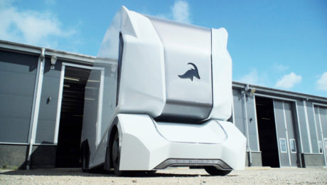 Self-driving T-Pod Truck Prototype