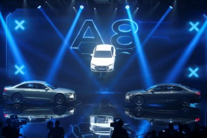 New Audi A8 images from Barcelona, July 2017