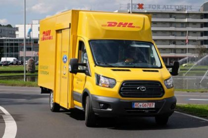 Ford electric DHL delivery van