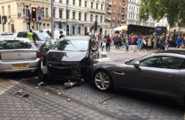 London Natural History Museum car crash