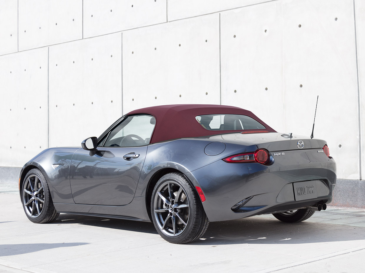 2018 mazda mx 5 miata offers cherry red soft top starts at 25 295. Black Bedroom Furniture Sets. Home Design Ideas