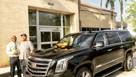Dwayne 'The Rock' Johnson's father with Cadillac Escalade SUV