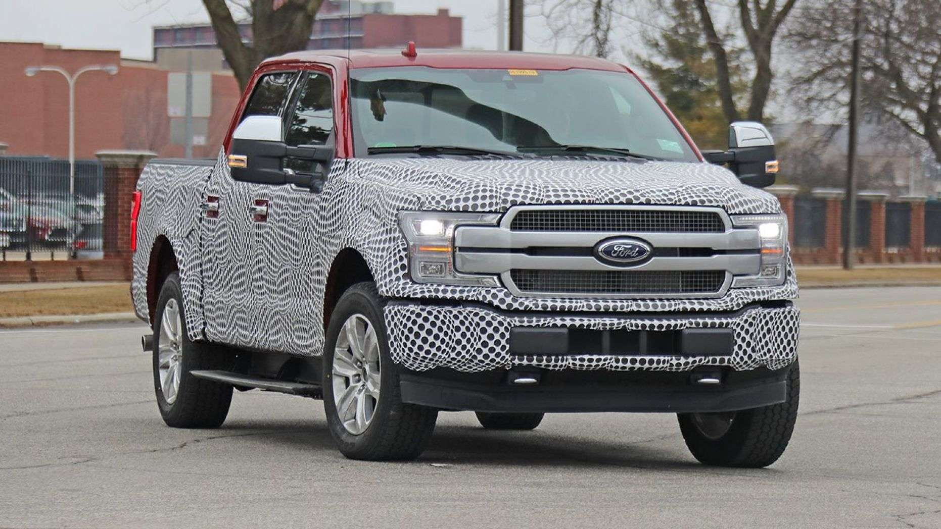 Electric Ford F 150 Spotted