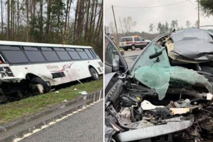 car and bus accident near Georgetown County elementary school.