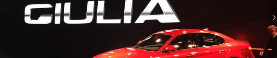 Images of Alfa Romeo Giulia at Geneva Motor Show 2016