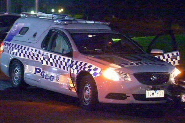 police van damaged australia
