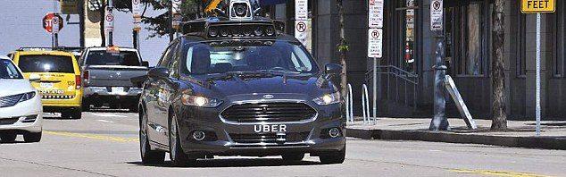 Uber self driving car images