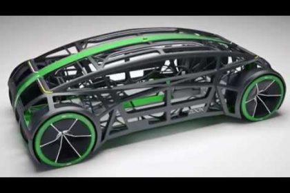 Images of Zoox car, autonomous vehicles