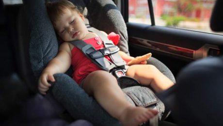 leaving kids alone in car