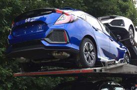 2017 Honda Civic hatchback spy images