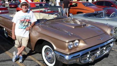 Larry Jasmin, from Rancho Palos Verdes, California, and his 1960 Ford Thunderbird.