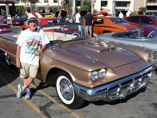 Larry Jasmin, from Rancho Palos Verdes, California, and his 1960 Ford Thunderbird.