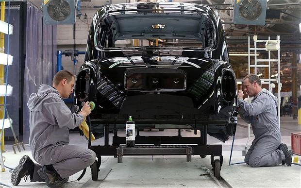 car factory in London, UK