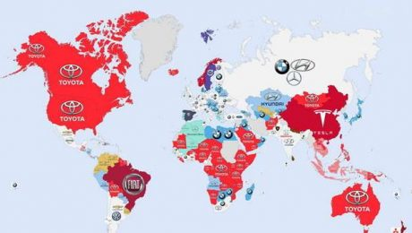 google most-searched car company by country