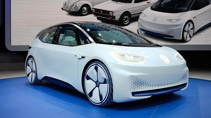 Volkswagen electric car paris motor show