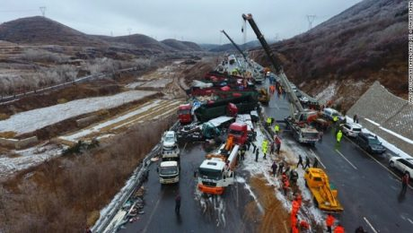 56-car pile up in northeastern China, 17 deaths