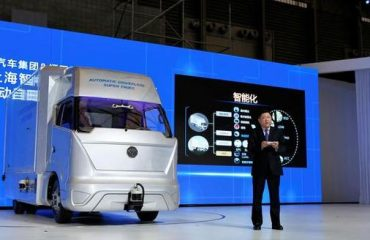 Baidu reveals self-driving truck with Foton