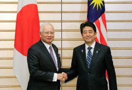 Shinzo Abe, Nazib Razak, Japan - Malaysia