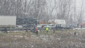 Michigan 40 cars pileup