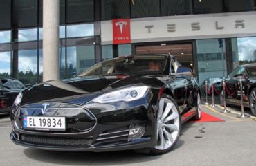 Tesla showroom in Oslo, Norway