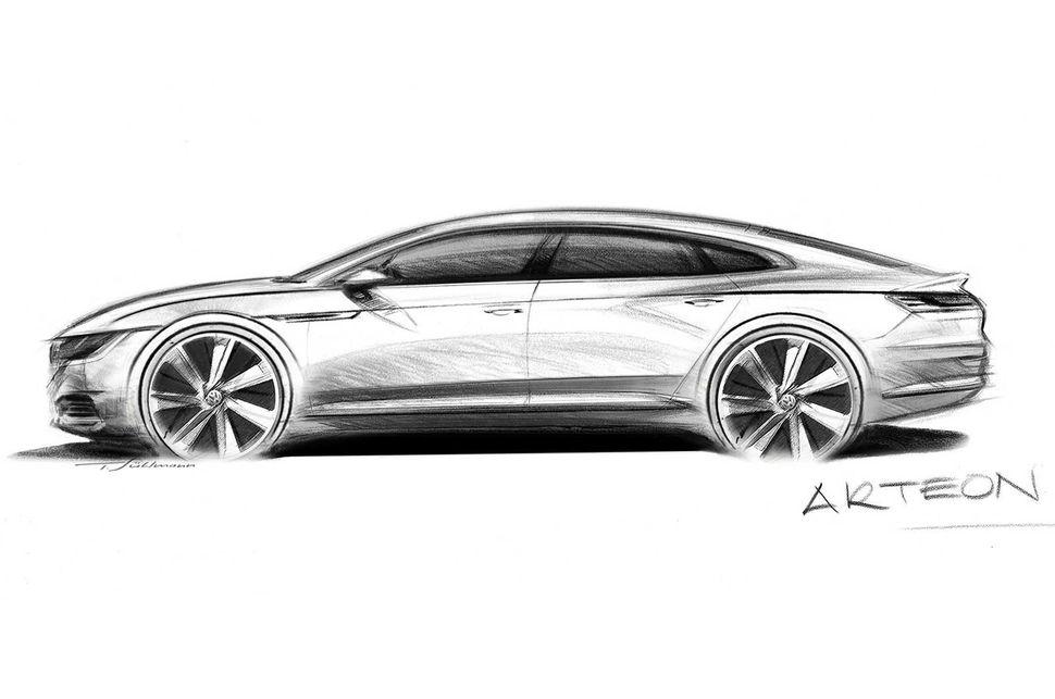 Volkswagen Arteon prototype sketch