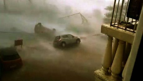 Car in Cyclone Vardah