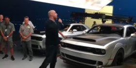 2018 Dodge Challenger Demon SRT leaked in Vin Diesel Facebook video