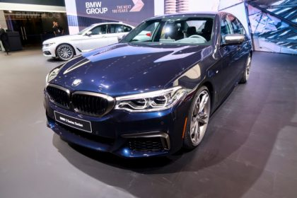 BMW M550i at Detroit Auto Show
