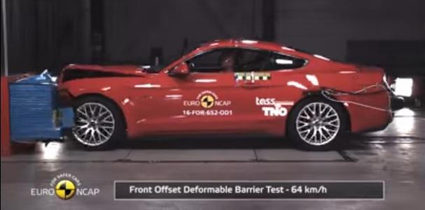Ford Mustang in Euro NCAP Testing