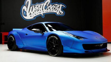 Justin Bieber Ferrari 458 Italia blue