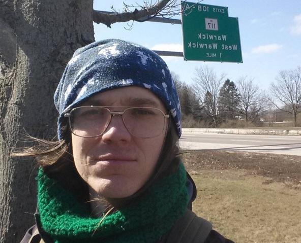 Climate-change activist Mark Baumer