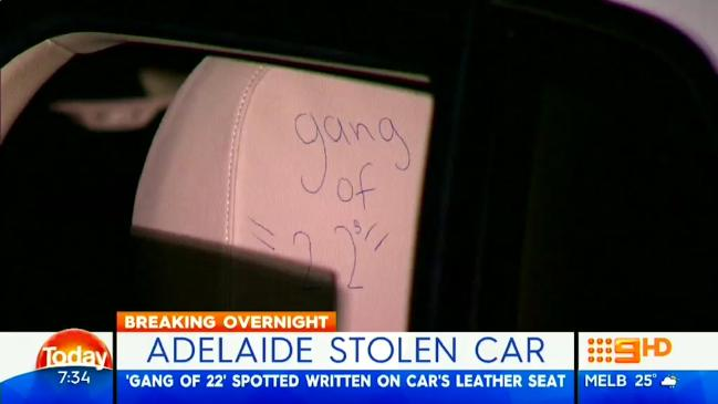 adelaide stolen car for joy-riding