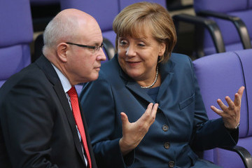 Volker Kauder and Angela Merkel