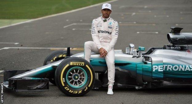 Lewis Hamilton Mercedes W08