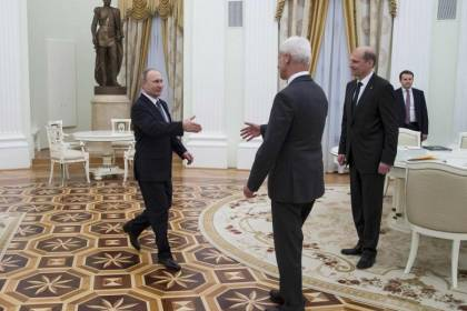 Vladimir Putin and Matthias Mueller