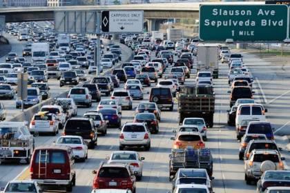 Traffic james in Los Angeles