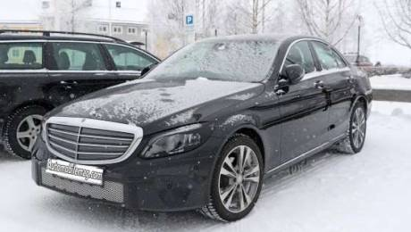 2018 Mercedes-Benz C-Class Spied